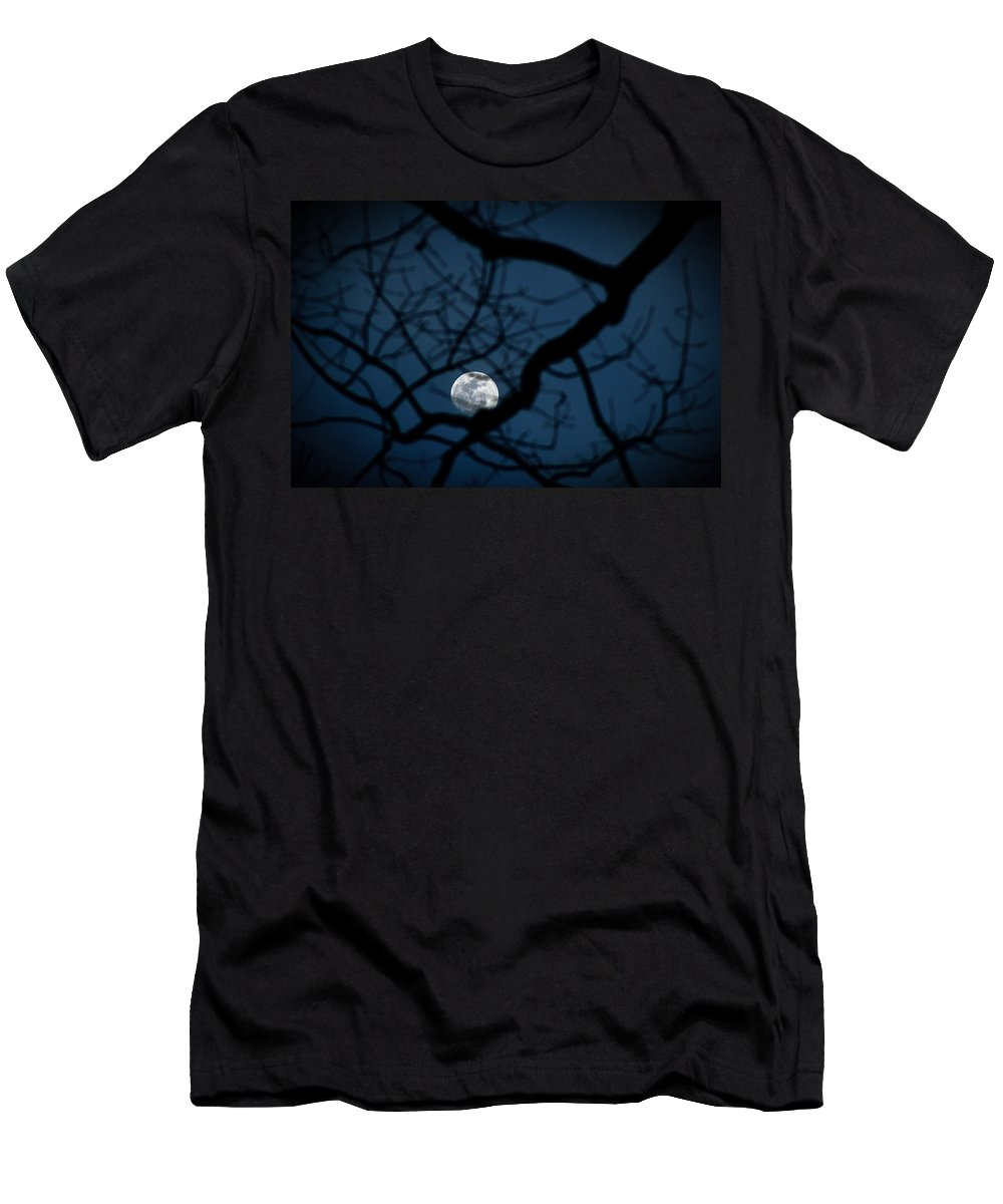 Moon Men's T-Shirt (Athletic Fit) featuring the photograph In The Light Of Night by Jessica Brawley