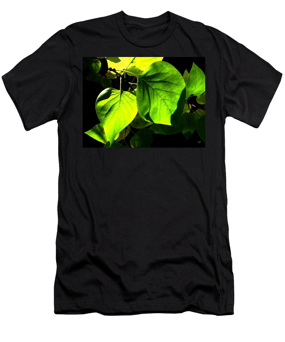 Lilac Leaves Men's T-Shirt (Athletic Fit) featuring the photograph In The Limelight by Will Borden