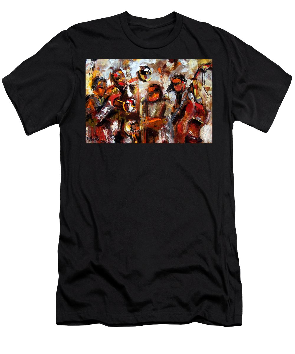 Jazz Art Men's T-Shirt (Athletic Fit) featuring the painting In The Moment by Debra Hurd