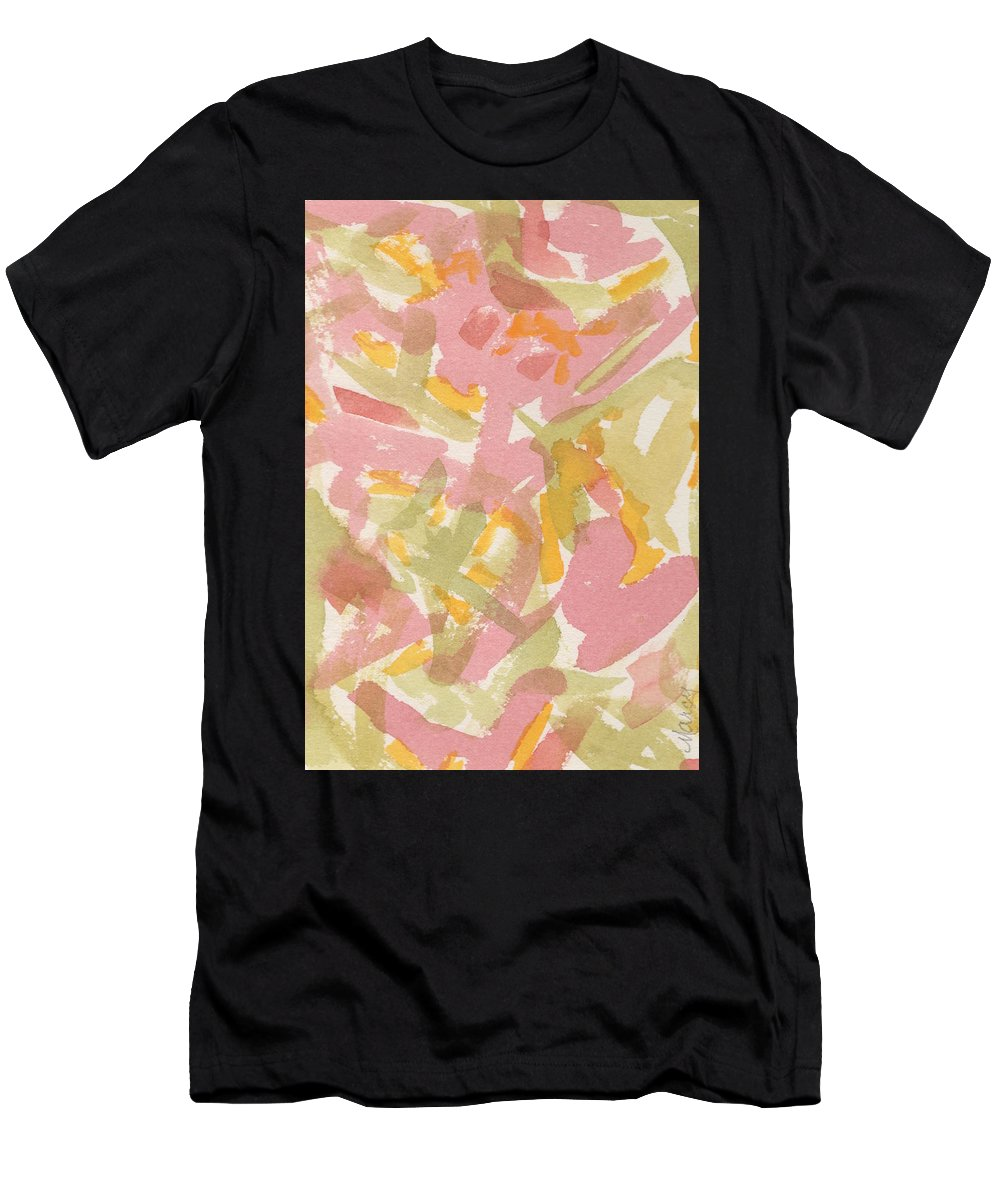 Watercolor Men's T-Shirt (Athletic Fit) featuring the painting In The Pink by Marcy Brennan