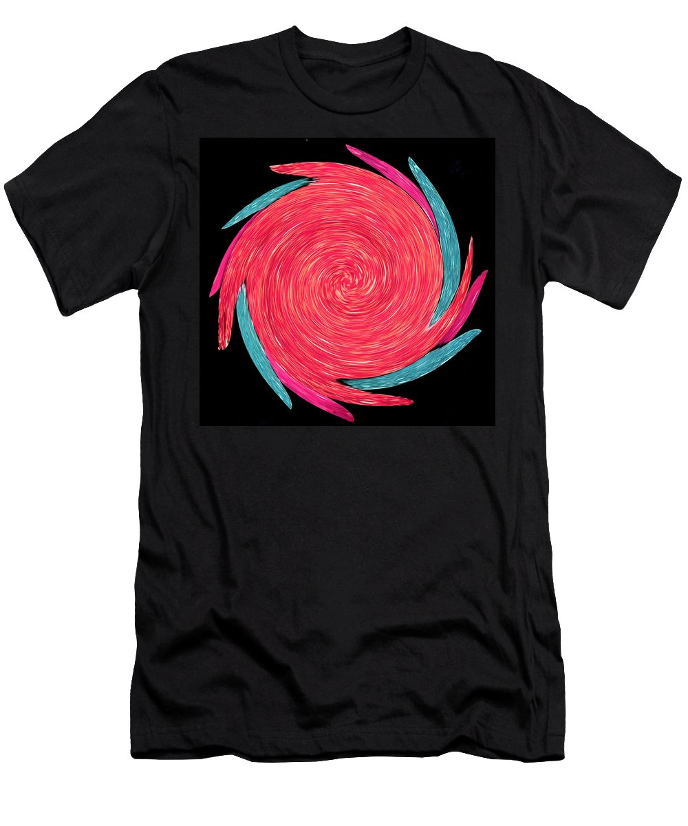 Digitally Altered Men's T-Shirt (Athletic Fit) featuring the painting In The Rose Garden by Wayne Potrafka