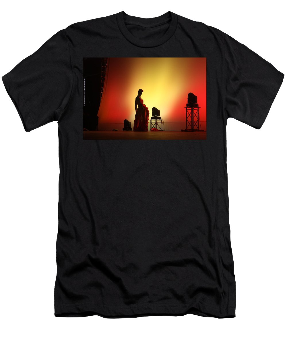 Dancer Men's T-Shirt (Athletic Fit) featuring the photograph In The Shadows... by Jo Hoden