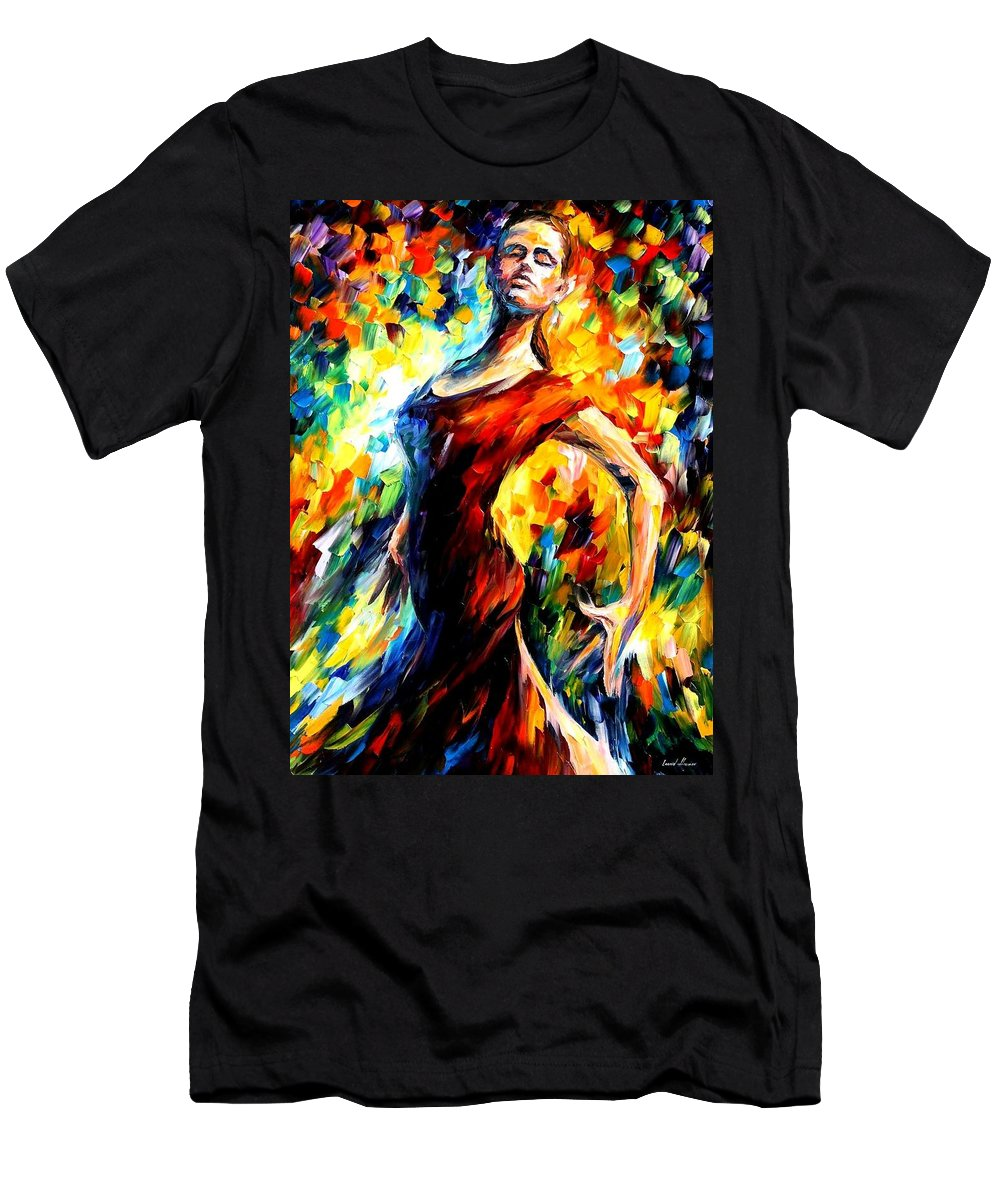 Afremov Men's T-Shirt (Athletic Fit) featuring the painting In The Style Of Flamenco by Leonid Afremov