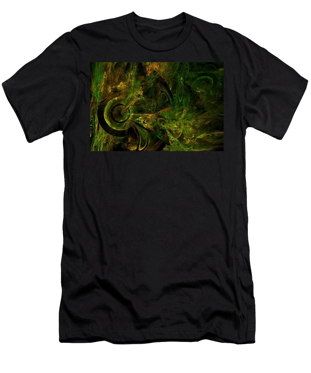Fractal Men's T-Shirt (Athletic Fit) featuring the digital art In The Valley Of Whoa by Lyle Hatch