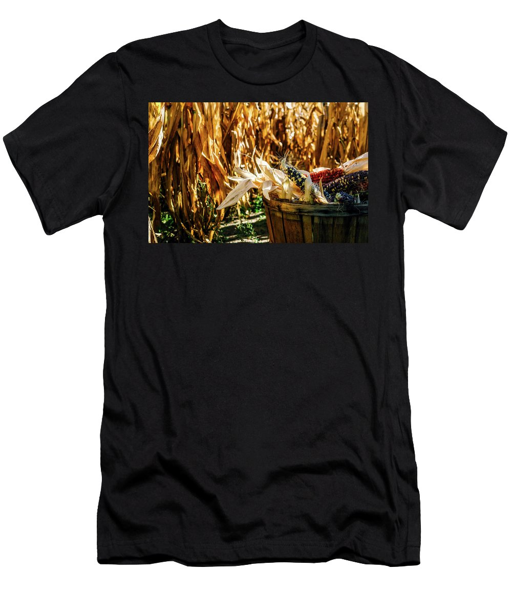 Indian Men's T-Shirt (Athletic Fit) featuring the photograph Indian Corn by Aaron Burden
