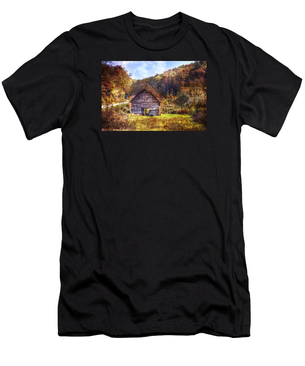 Appalachia Men's T-Shirt (Athletic Fit) featuring the photograph Indian Summer by Debra and Dave Vanderlaan