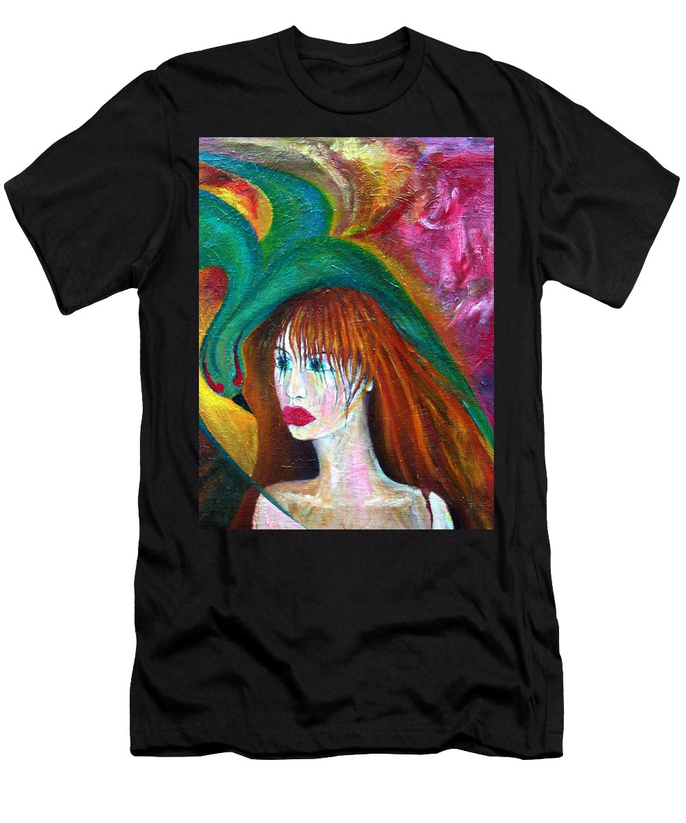 Imagination Men's T-Shirt (Athletic Fit) featuring the painting Indifference by Wojtek Kowalski