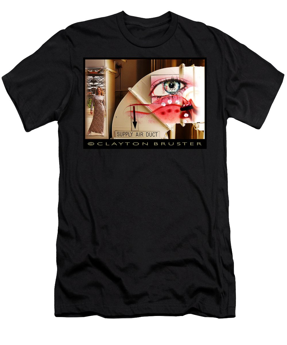 Men's T-Shirt (Athletic Fit) featuring the photograph Industrial Ceiling Dreams by Clayton Bruster