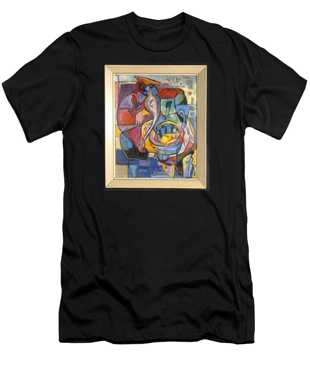 Men's T-Shirt (Athletic Fit) featuring the painting Industrial Thinking Cap by Mykul Anjelo