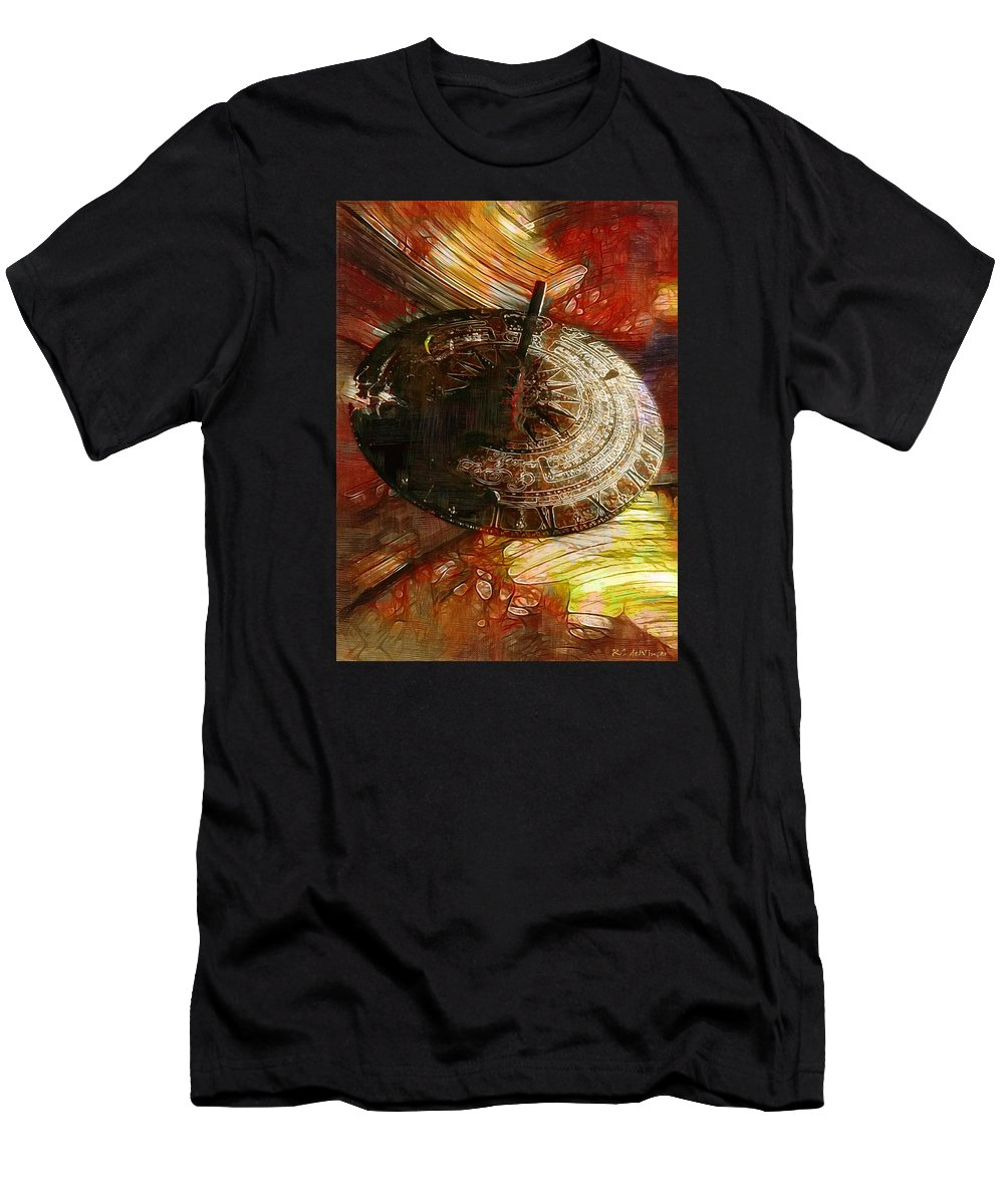 Science Fiction Men's T-Shirt (Athletic Fit) featuring the painting Inevitable Conclusion by RC DeWinter