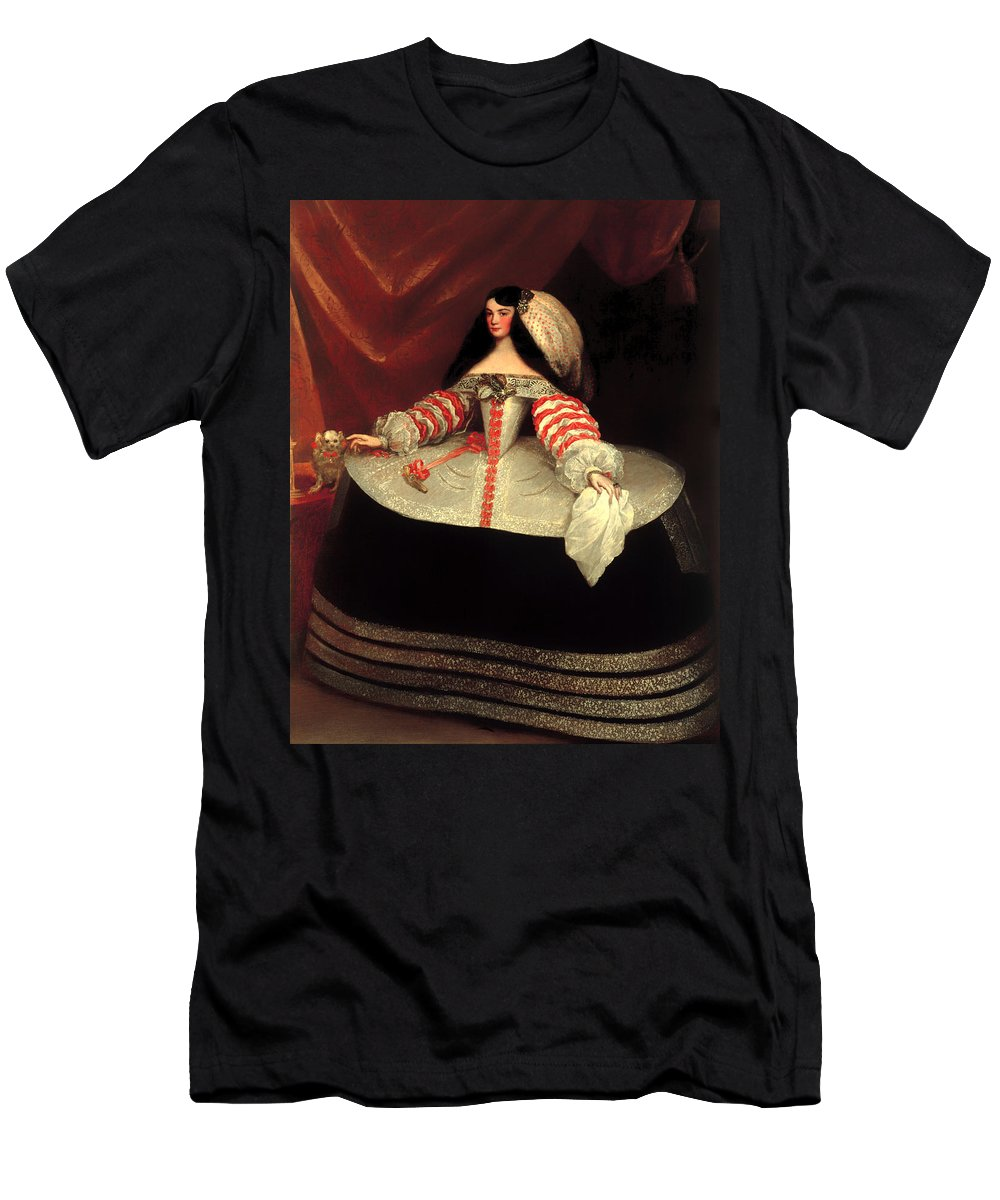Painting Men's T-Shirt (Athletic Fit) featuring the painting Inez De Zuniga - Countess Of Monterrey by Mountain Dreams