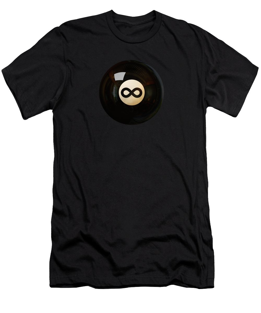 Snooker Men's T-Shirt (Athletic Fit) featuring the digital art Infinity Ball by Nicholas Ely