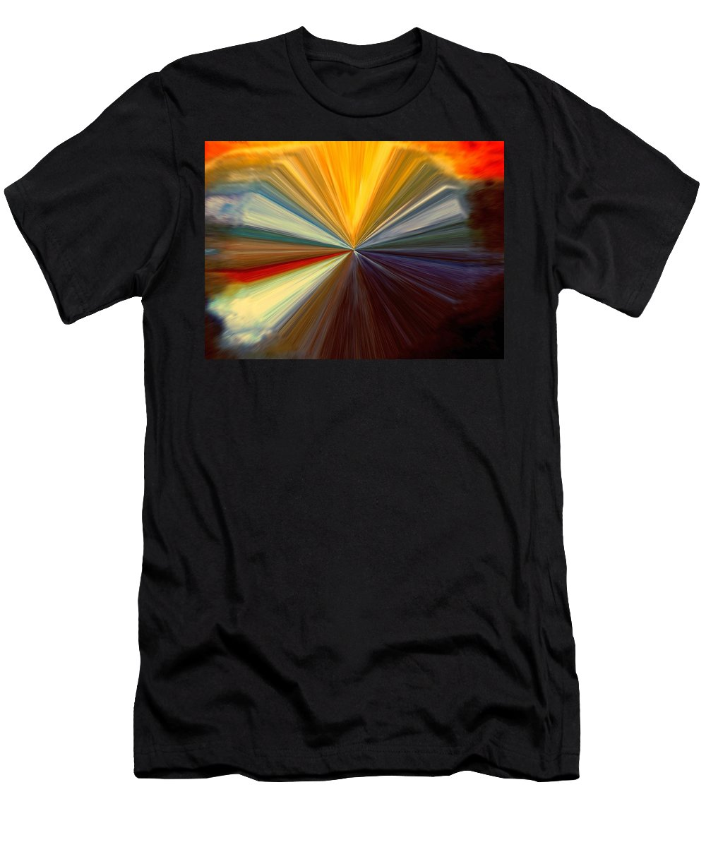 Abstract Men's T-Shirt (Athletic Fit) featuring the digital art Infinity by Melvin Moon