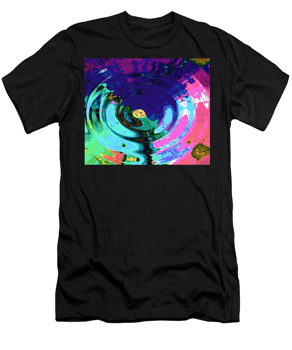 Blue Men's T-Shirt (Athletic Fit) featuring the digital art Infinity by Natalie Holland