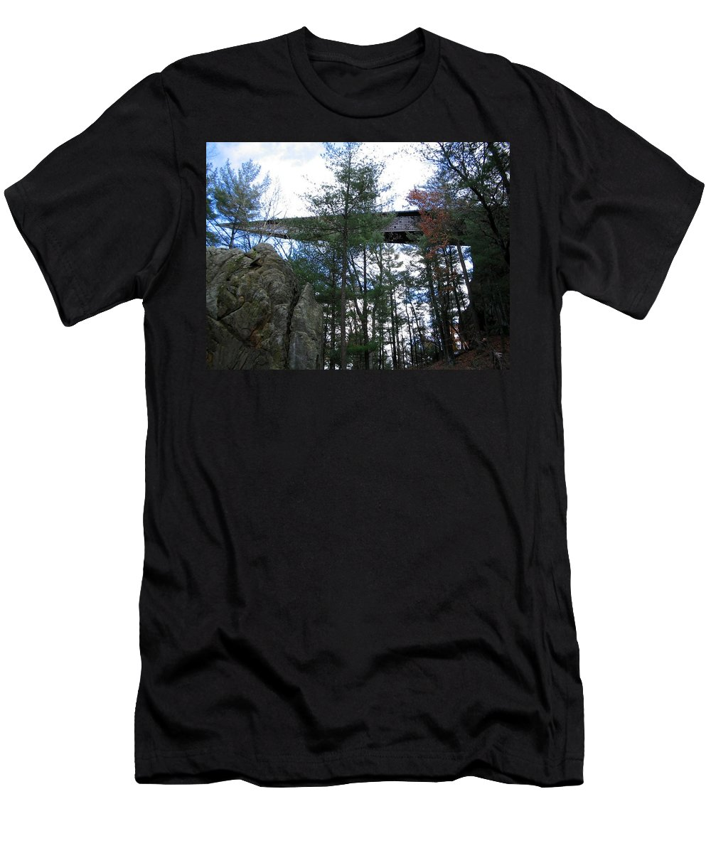 Fall Men's T-Shirt (Athletic Fit) featuring the photograph Infinity Room by April Patterson