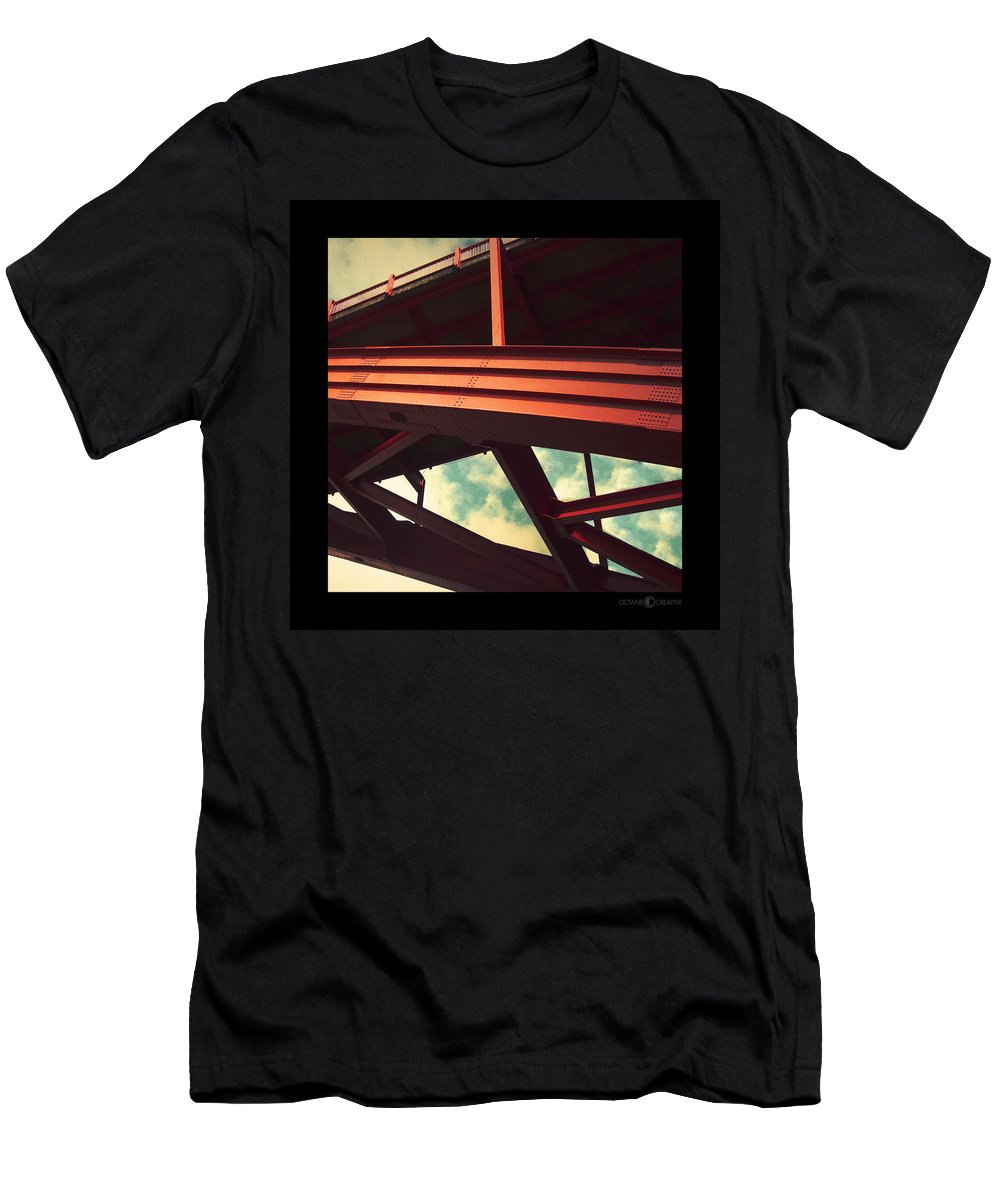 Bridge Men's T-Shirt (Athletic Fit) featuring the photograph Infrastructure by Tim Nyberg