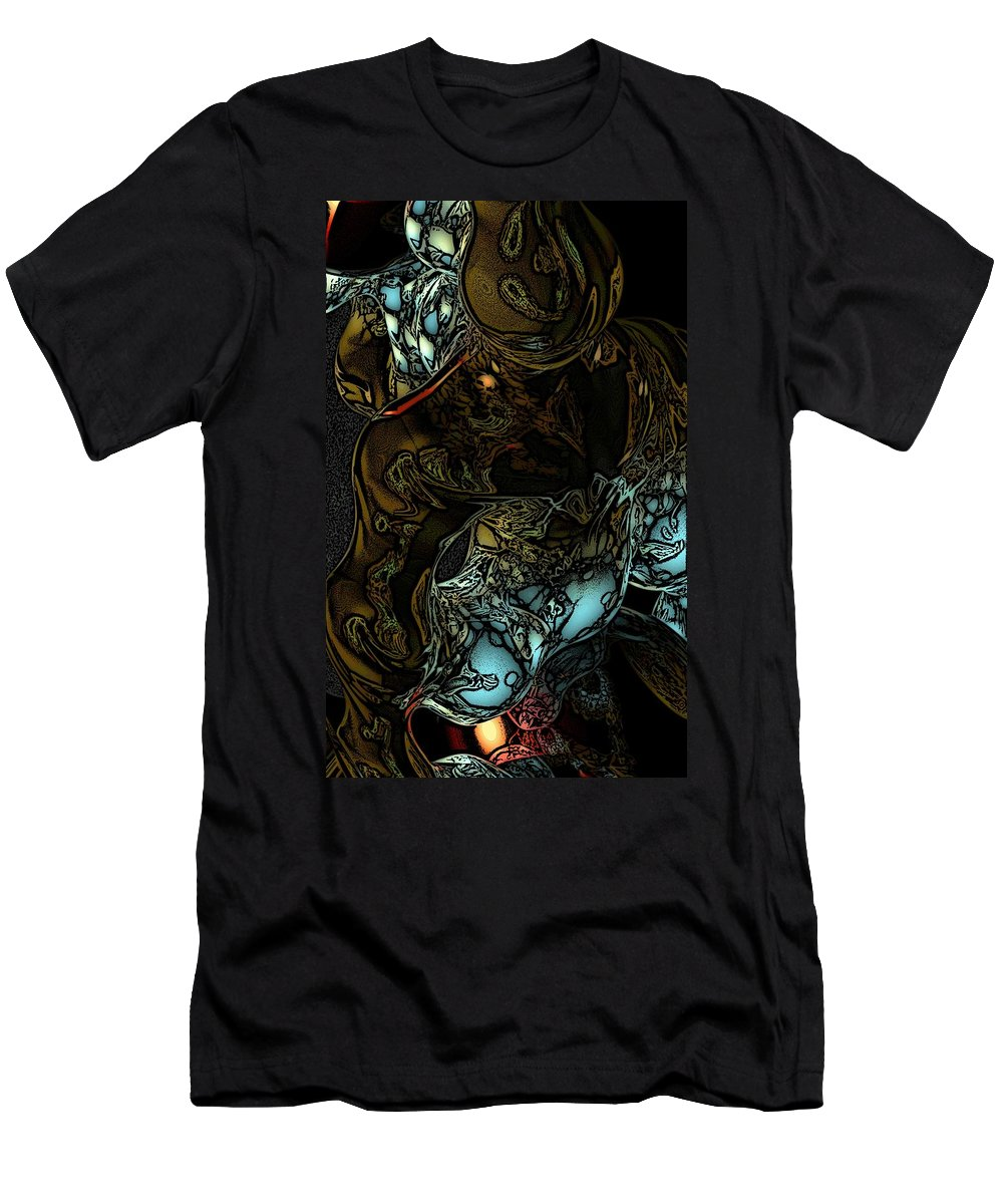 Abstract Men's T-Shirt (Athletic Fit) featuring the digital art Inner Being by David Lane