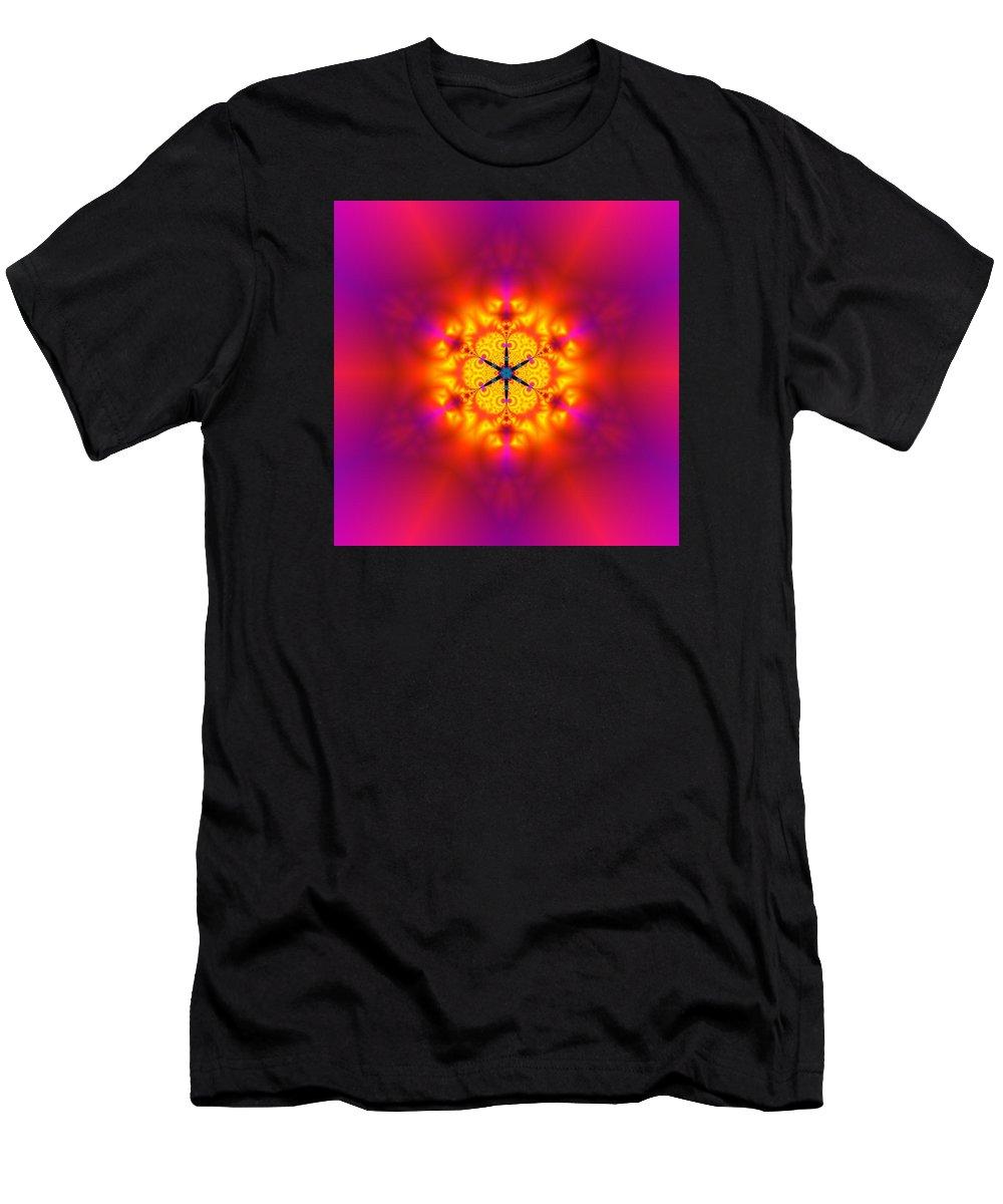 Mandala Men's T-Shirt (Athletic Fit) featuring the digital art Inner Comet by Robert Thalmeier