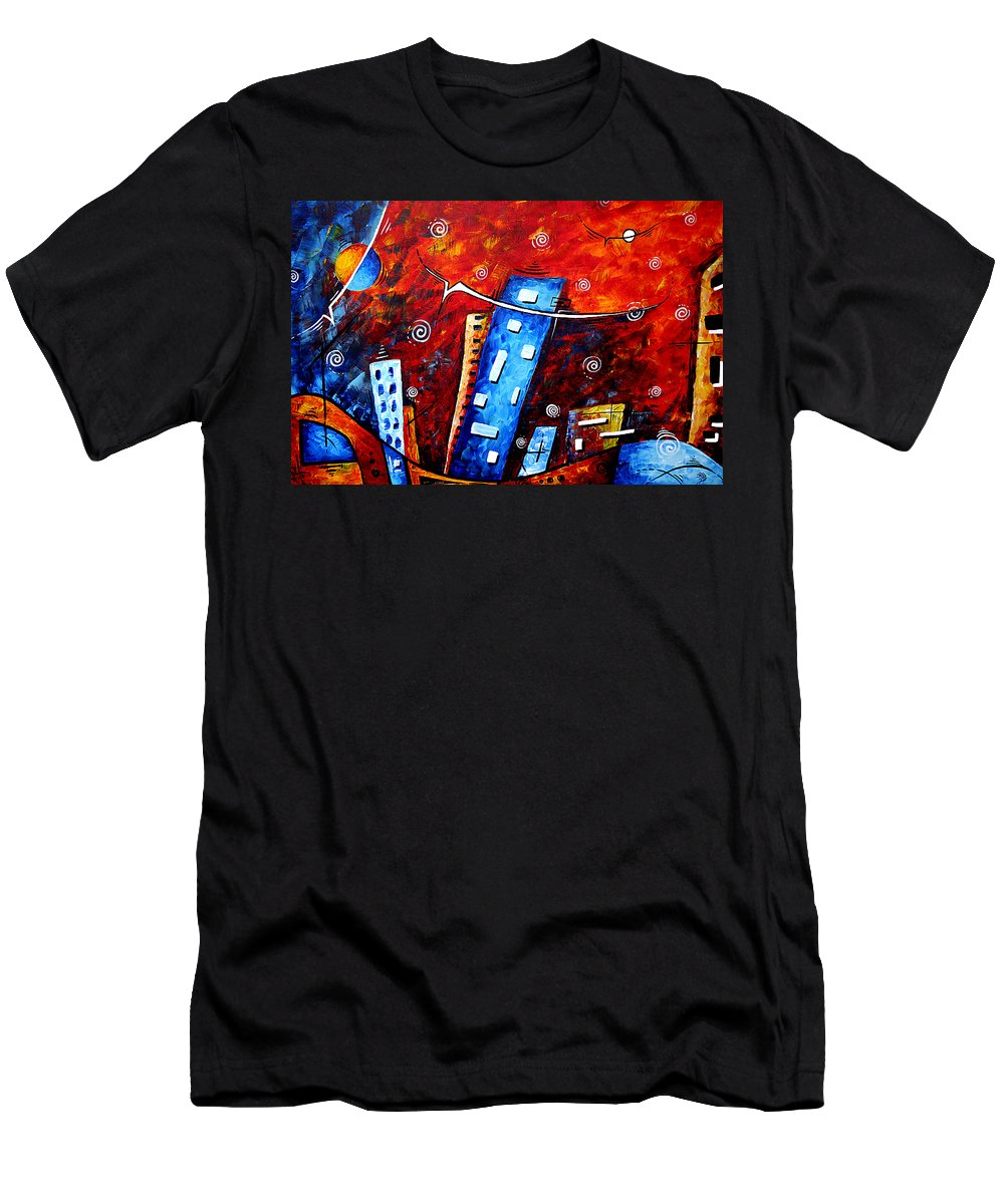 Original Men's T-Shirt (Athletic Fit) featuring the painting Inner Sanctuary By Madart by Megan Duncanson