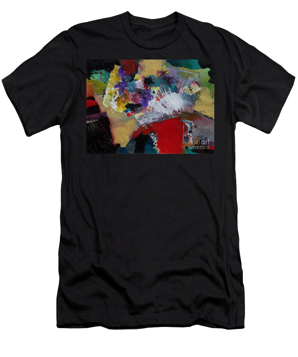 Mixed Media Painting Men's T-Shirt (Athletic Fit) featuring the painting Inner Spirit by Donna Frost