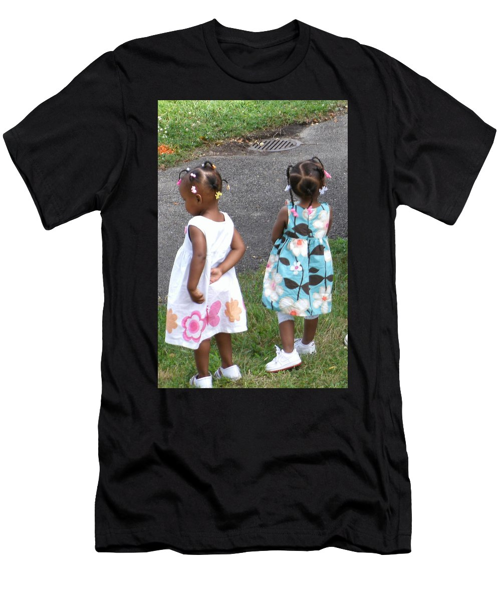 Girls Men's T-Shirt (Athletic Fit) featuring the photograph Innocence by Jan Gilmore
