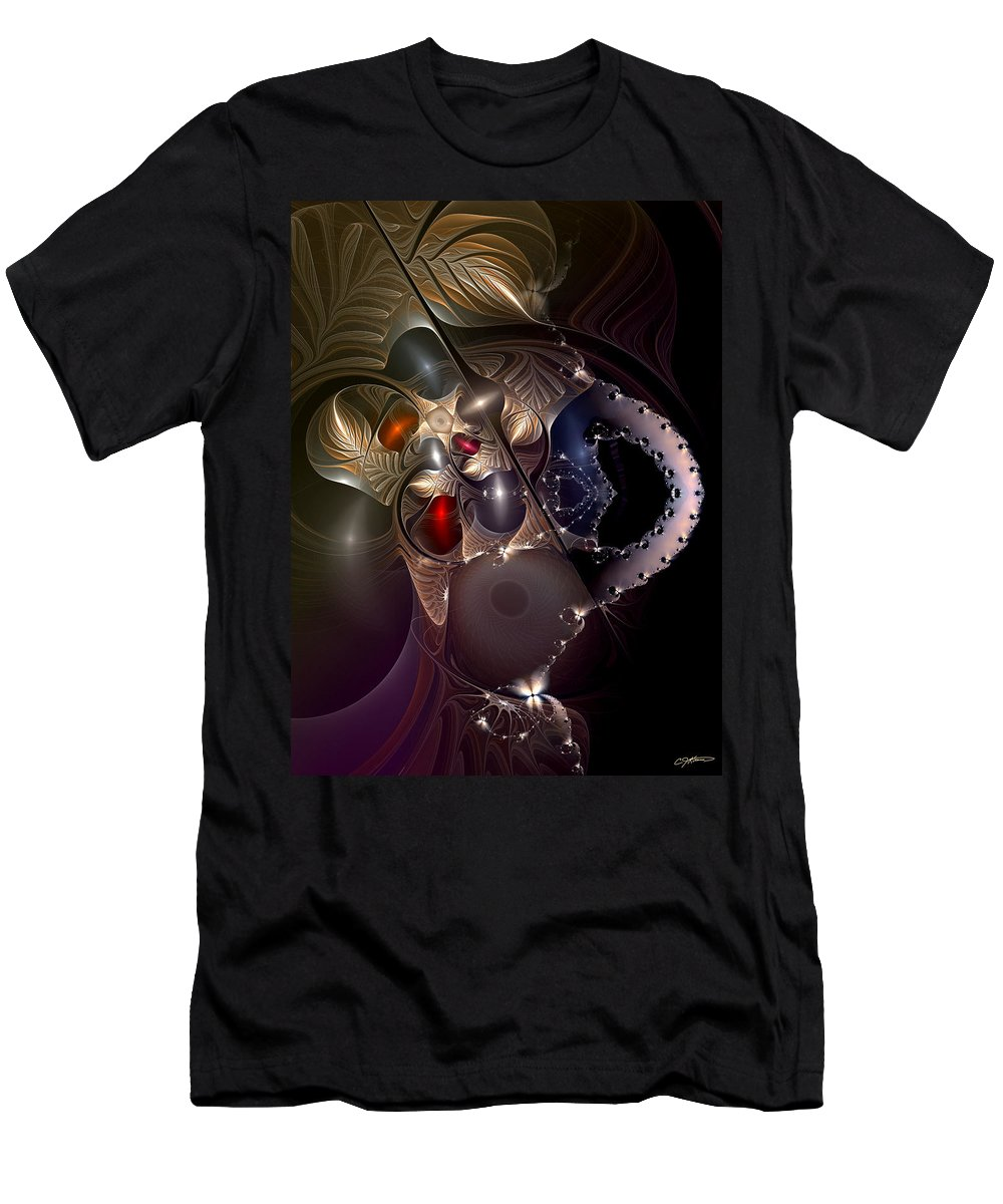Abstract Men's T-Shirt (Athletic Fit) featuring the digital art Insecurity Begets Fashion by Casey Kotas