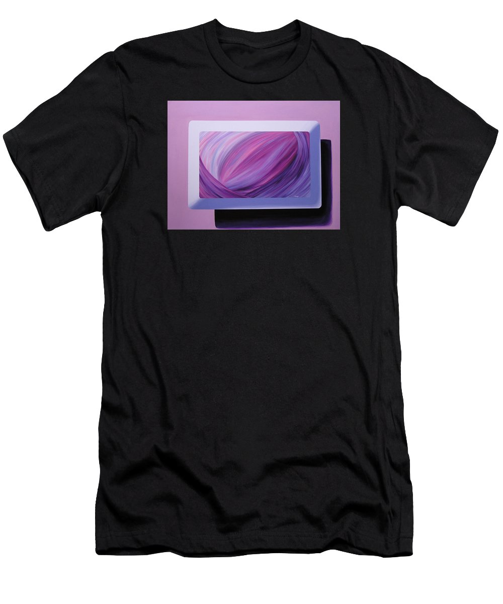 Original Men's T-Shirt (Athletic Fit) featuring the painting Inside Purple by Melissa Joyfully