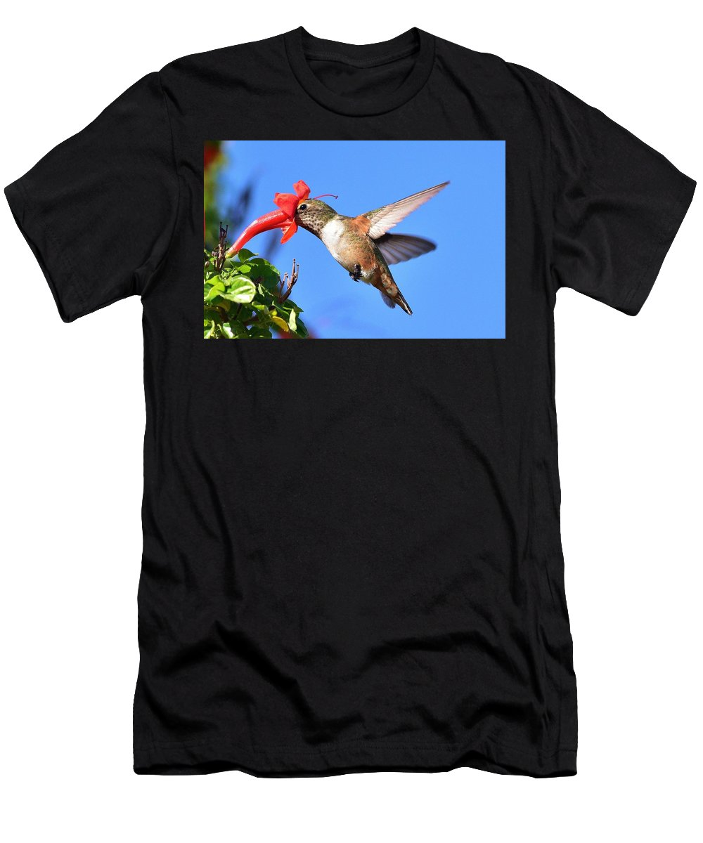 Linda Brody Men's T-Shirt (Athletic Fit) featuring the photograph Inside The Flower by Linda Brody