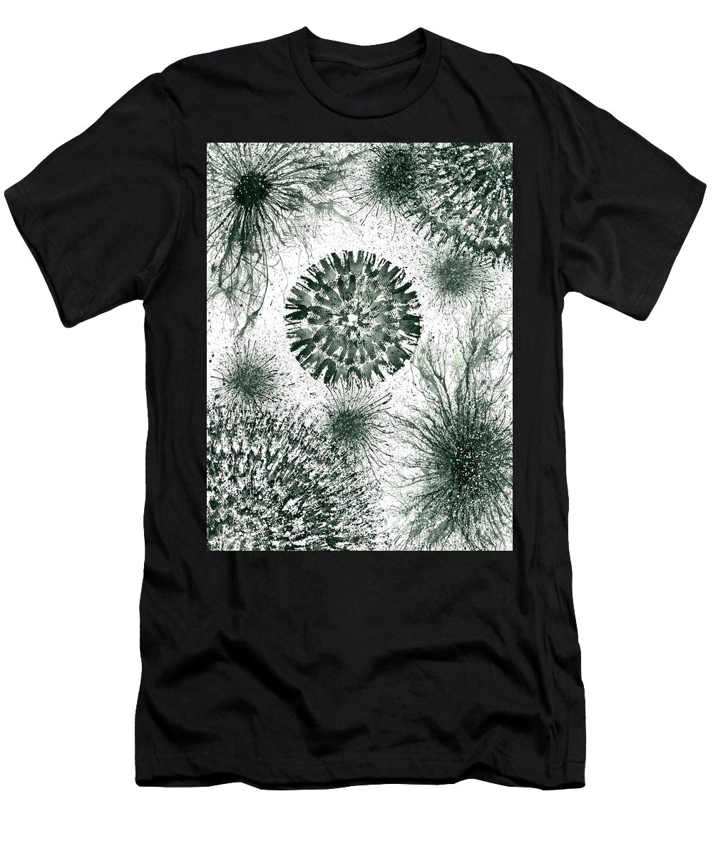 Abstract Men's T-Shirt (Athletic Fit) featuring the painting Insights From The Infinite Intelligence #657 by Rainbow Artist Orlando L