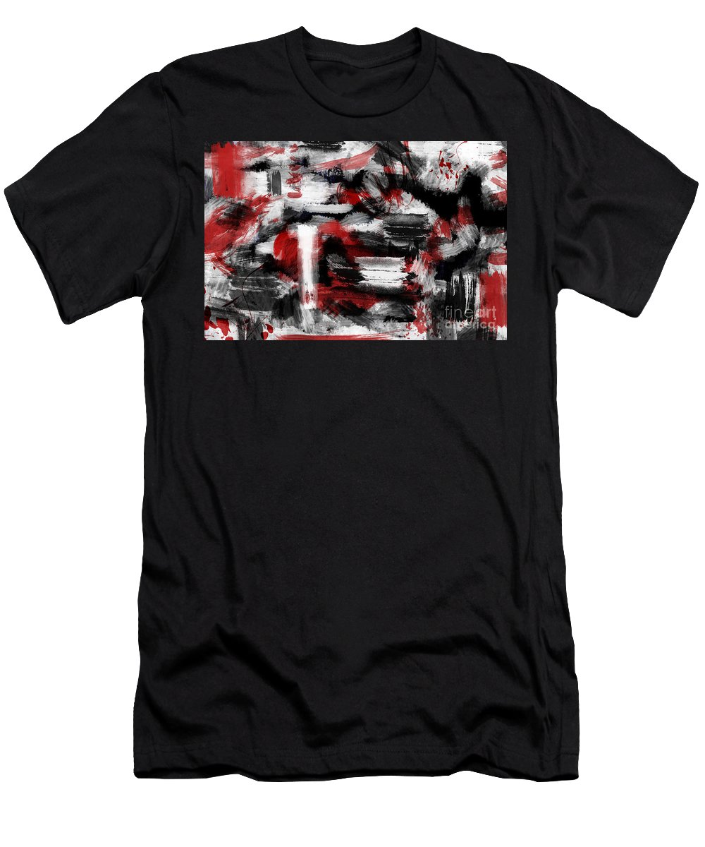 Abstract Canvas Prints Men's T-Shirt (Athletic Fit) featuring the digital art Insomnia by Aimelle