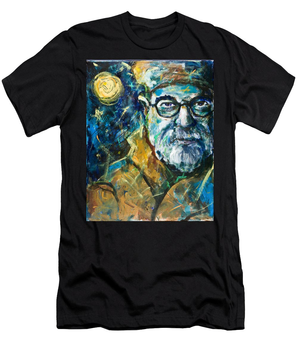 Portrait Men's T-Shirt (Athletic Fit) featuring the painting Insomnia by Maxim Komissarchik