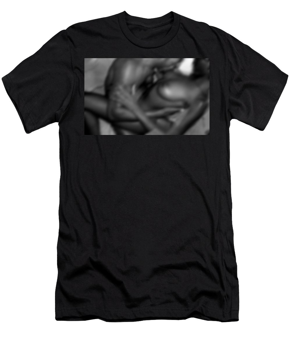 Photograph Men's T-Shirt (Athletic Fit) featuring the photograph Intensity by Ed Silvera