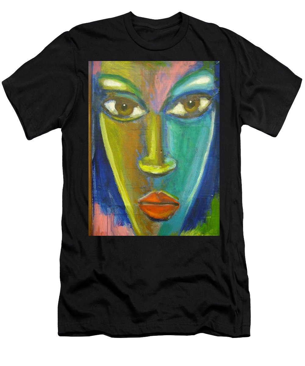 Painting Men's T-Shirt (Athletic Fit) featuring the painting Intensity by Jan Gilmore