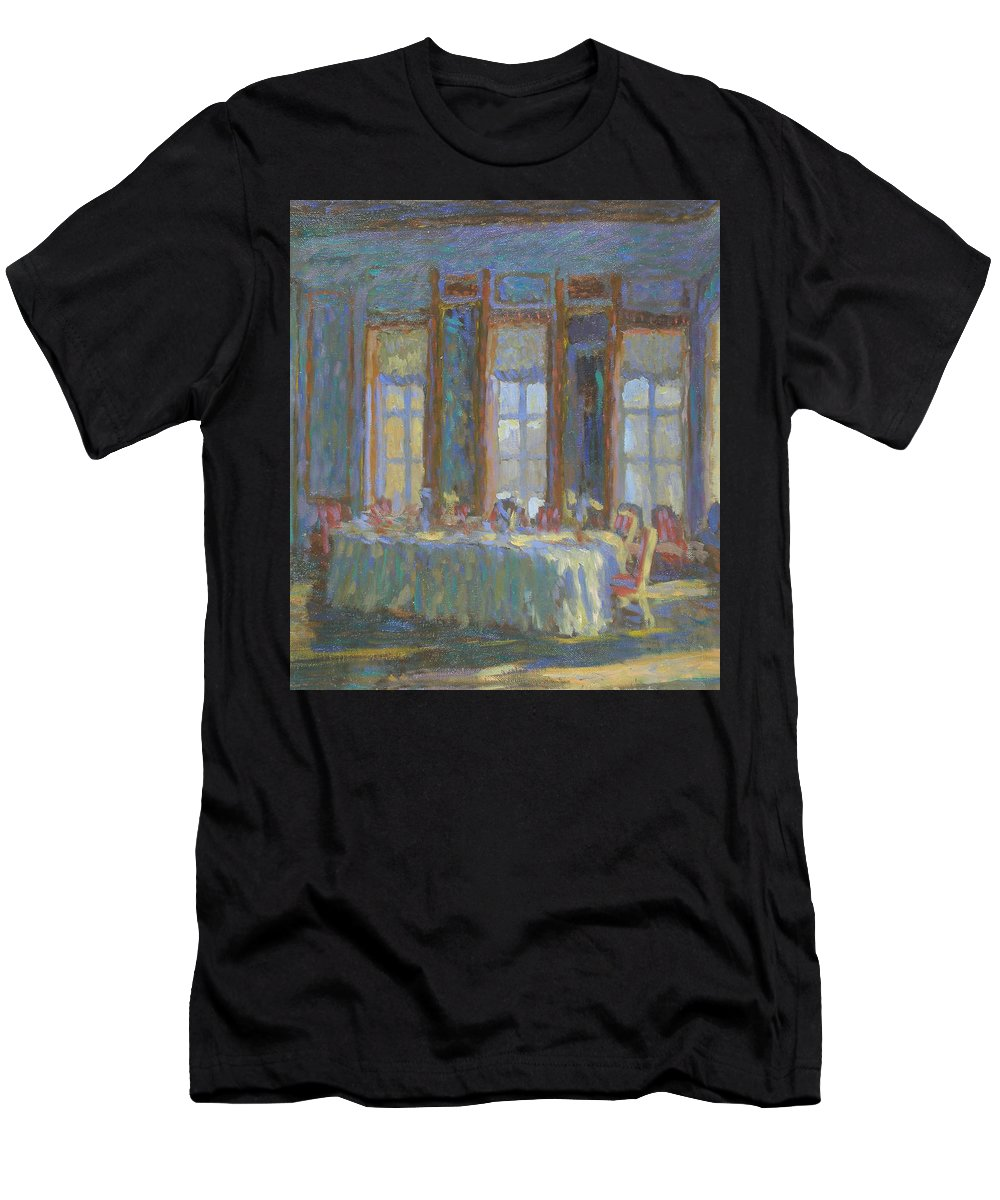Moscow Men's T-Shirt (Athletic Fit) featuring the painting Interior by Robert Nizamov