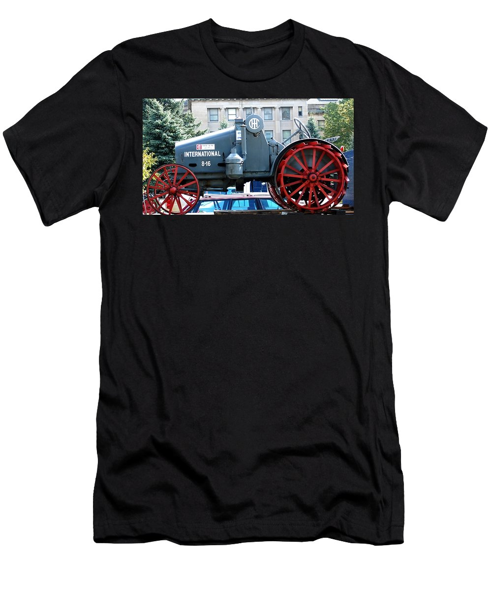 Tractor Men's T-Shirt (Athletic Fit) featuring the digital art International 8-16 by David Lane