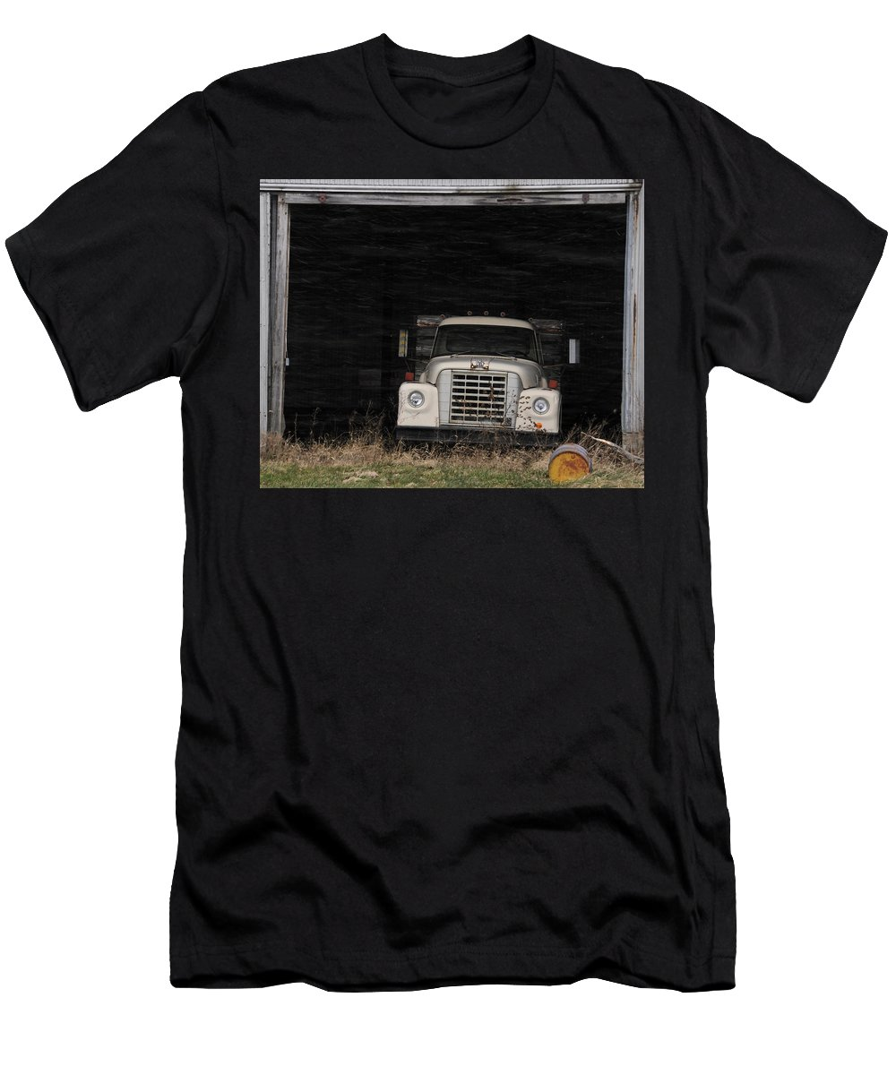International Harvester Men's T-Shirt (Athletic Fit) featuring the photograph International Truck by David Arment