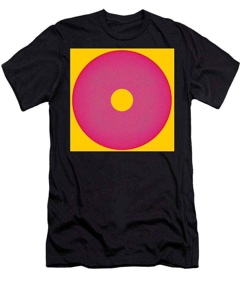 Beauteysphere Men's T-Shirt (Athletic Fit) featuring the digital art Interplay Interference Wheel - Beauteysphere Opus12 by Burkhard Eichberger