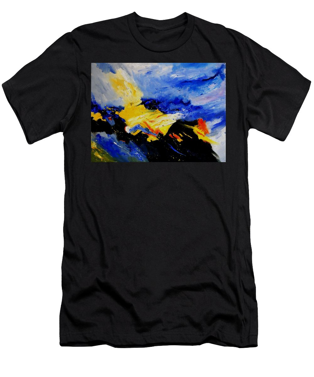 Abstract Men's T-Shirt (Athletic Fit) featuring the painting Interstellar Overdrive 2 by Pol Ledent