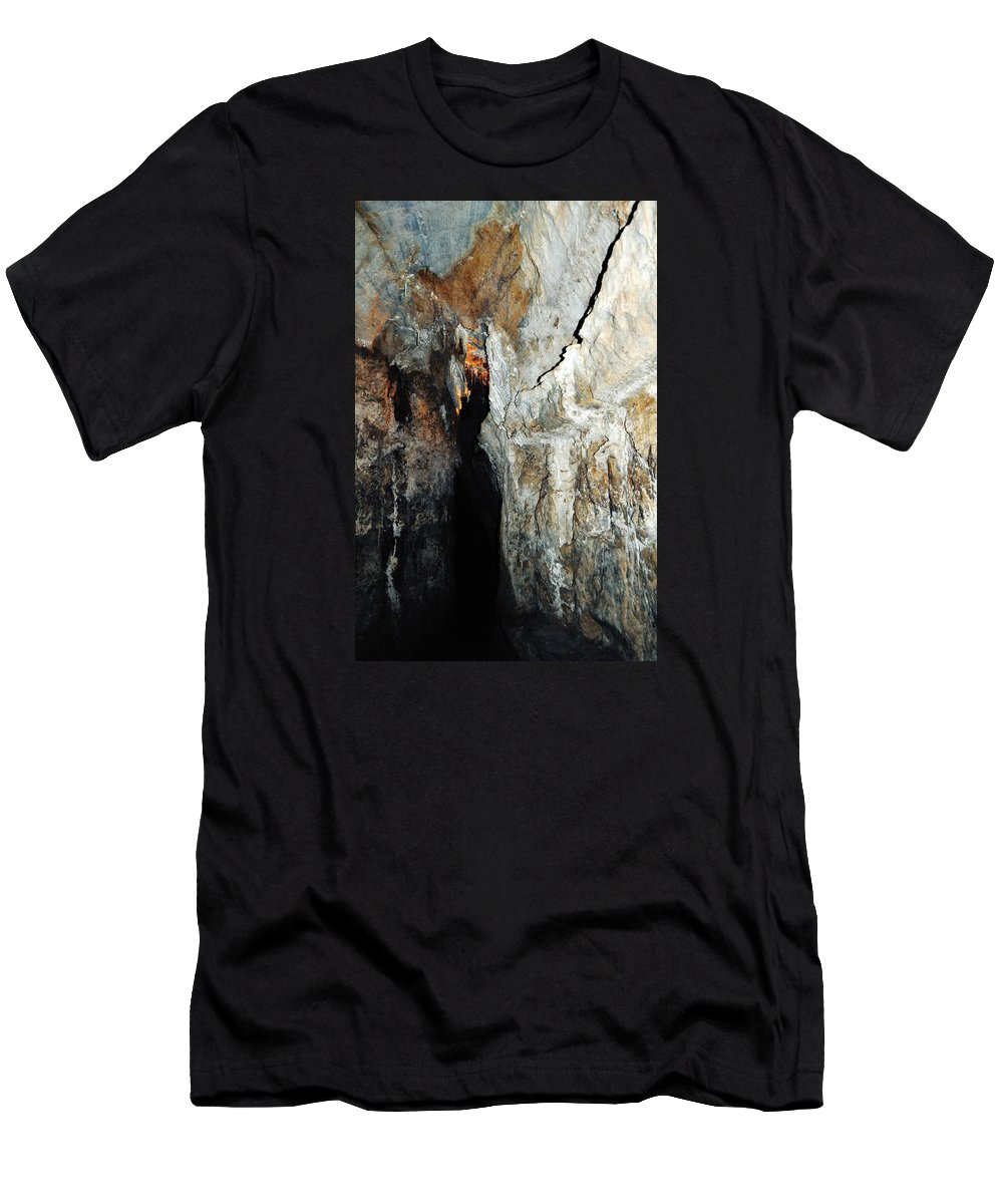 Sequoia National Park Men's T-Shirt (Athletic Fit) featuring the photograph Into Crystal Cave by Kyle Hanson