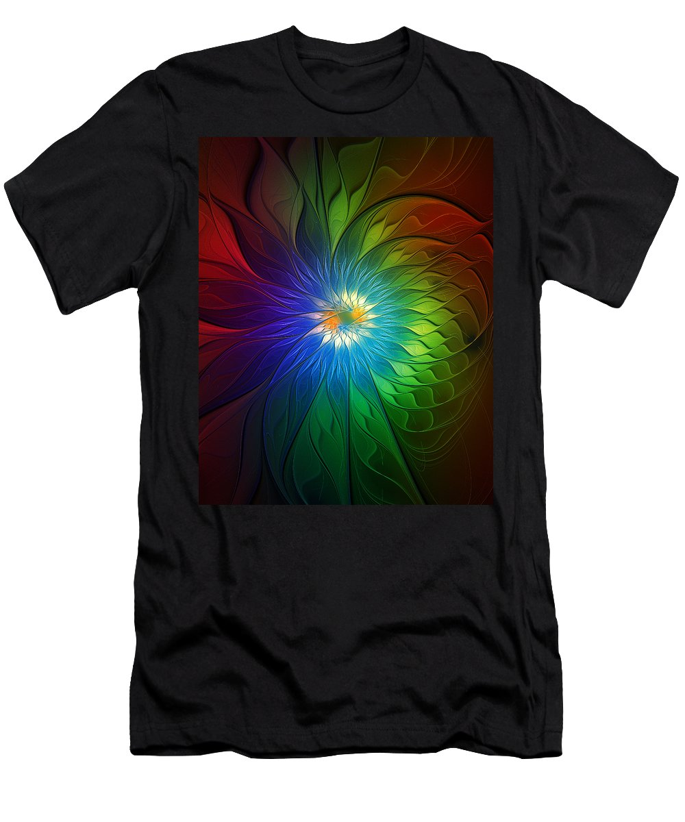 Abstract Men's T-Shirt (Athletic Fit) featuring the digital art Into Light by Amanda Moore