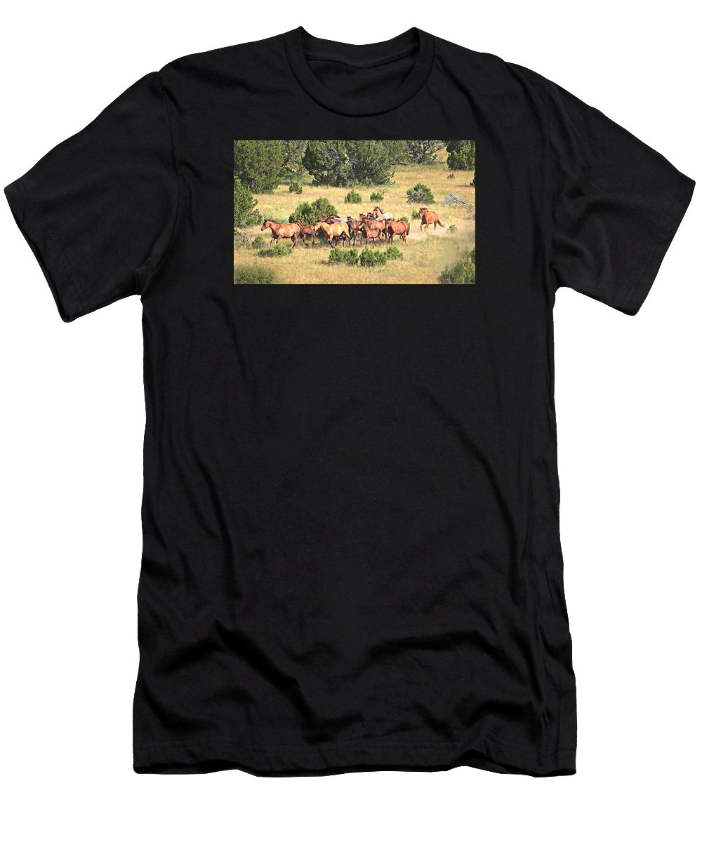 Michael Hamilton Men's T-Shirt (Athletic Fit) featuring the photograph Into The Clear by Michael Hamilton