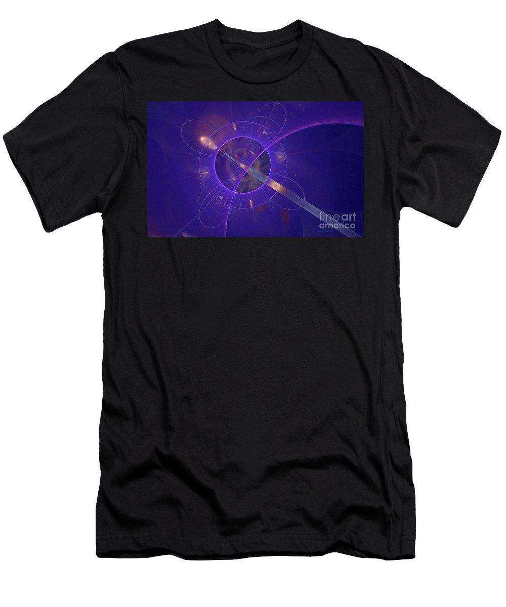 Fractal Men's T-Shirt (Athletic Fit) featuring the digital art Into The Future by Deborah Benoit