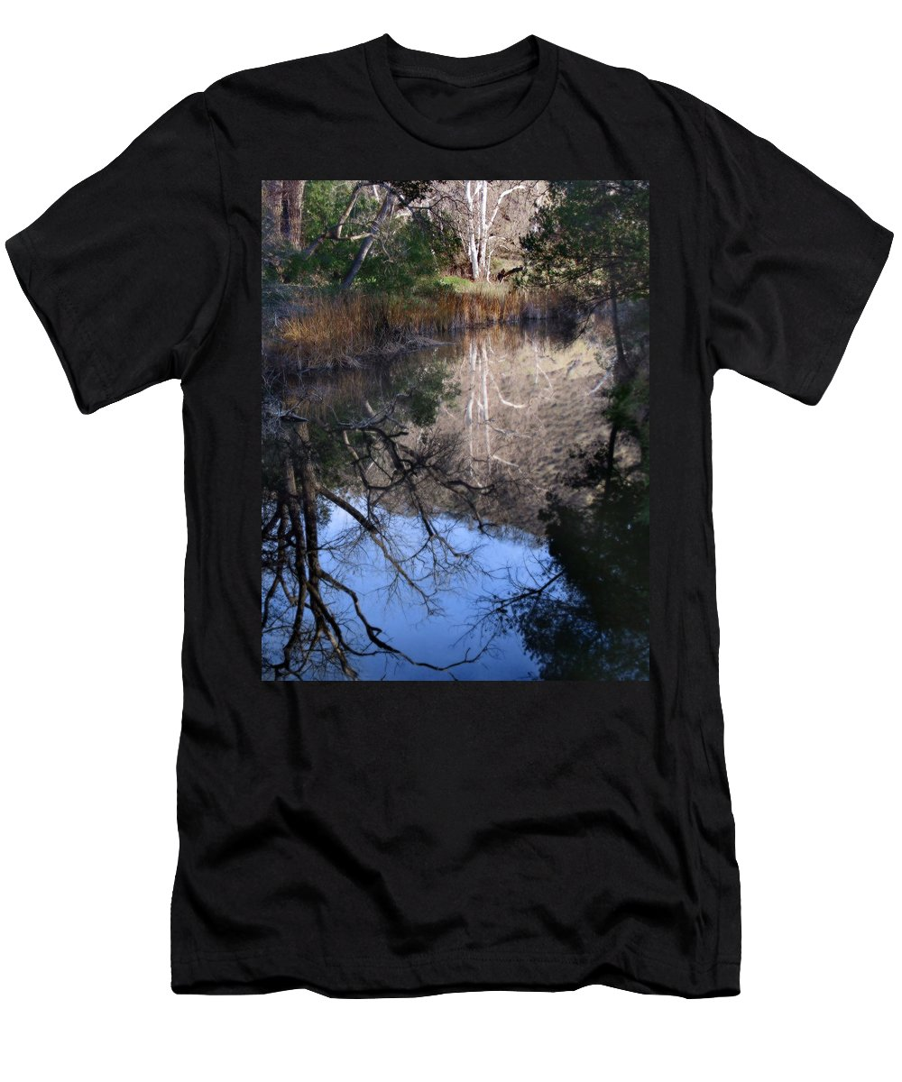Landscape Men's T-Shirt (Athletic Fit) featuring the photograph Into The Light by Karen W Meyer