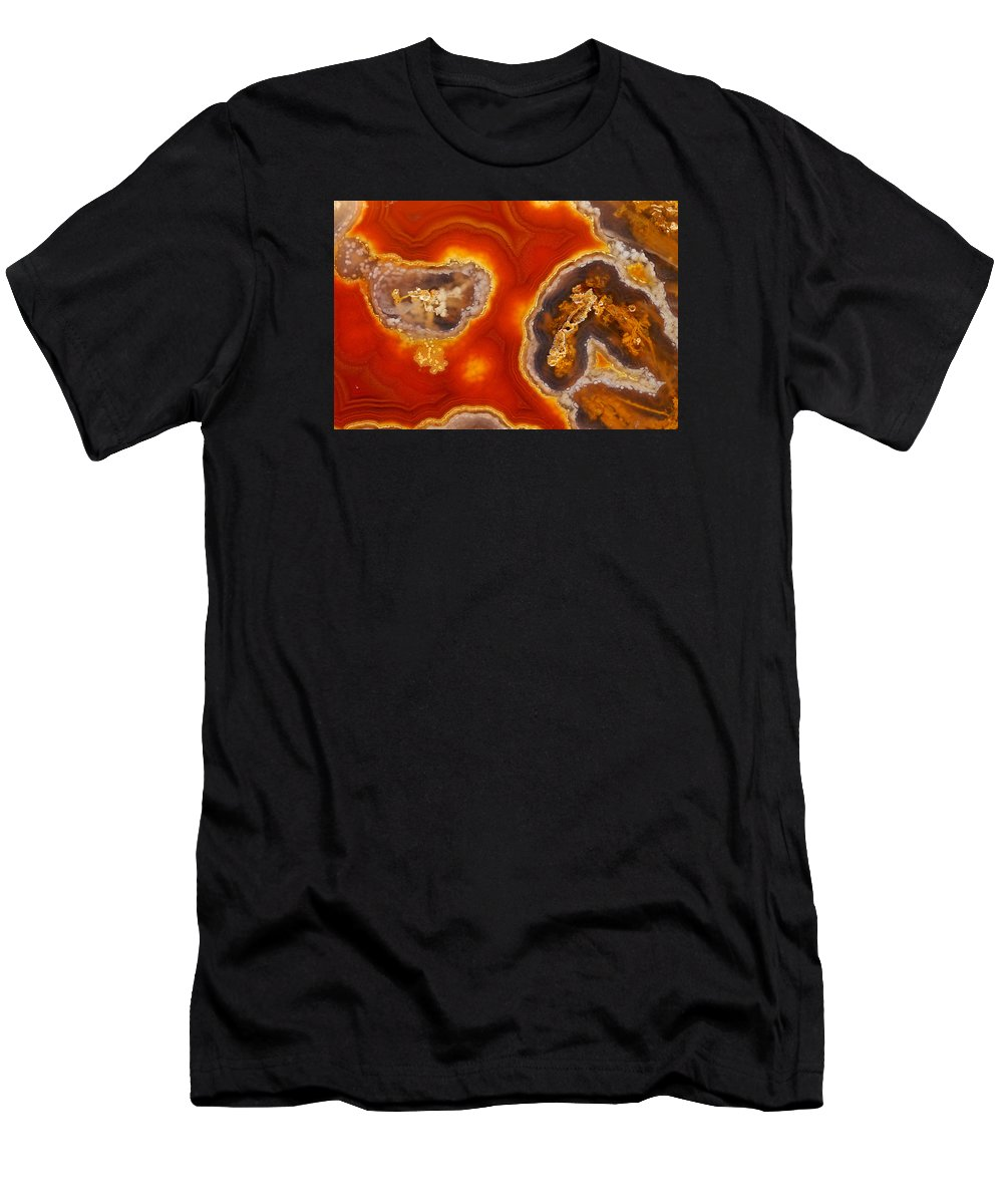 Agate Men's T-Shirt (Athletic Fit) featuring the photograph Introspection by Bill Morgenstern