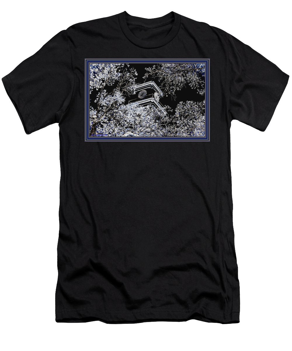 Trees Men's T-Shirt (Athletic Fit) featuring the mixed media Inversion Art Work by Debra Lynch