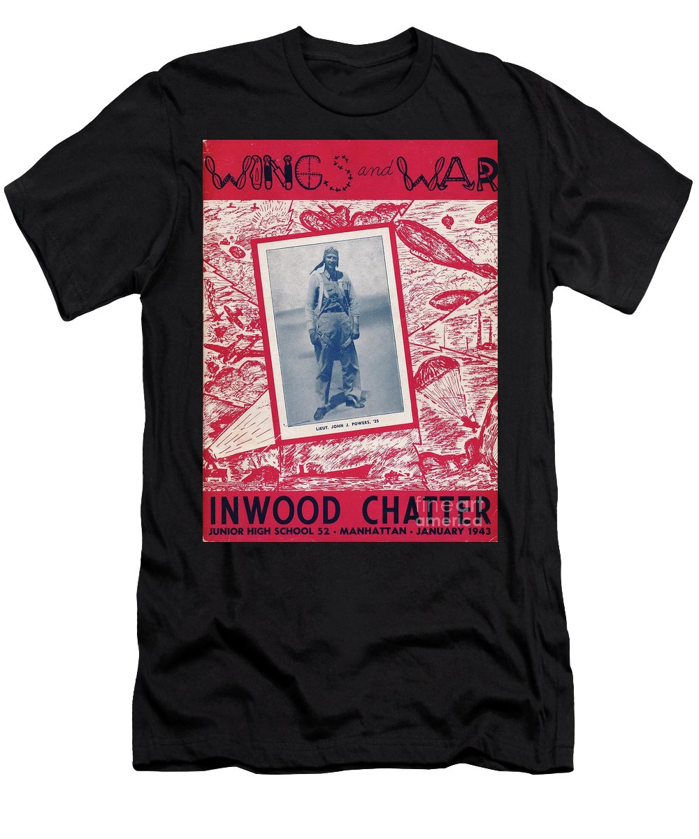 Inwood Men's T-Shirt (Athletic Fit) featuring the photograph Inwood Chatter, 1943 by Cole Thompson