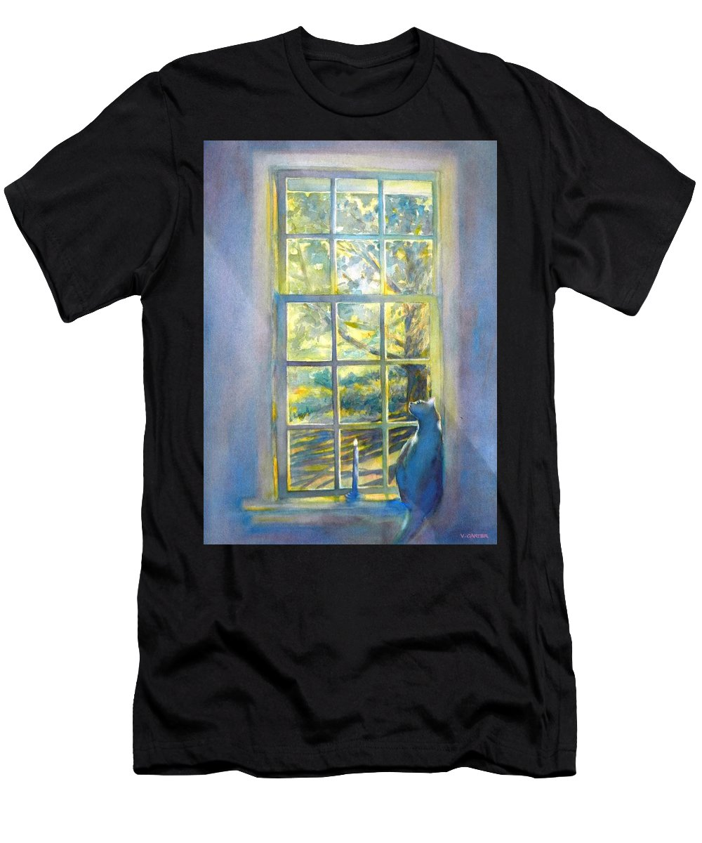 Watercolor T-Shirt featuring the painting Ira At The Window by Virgil Carter