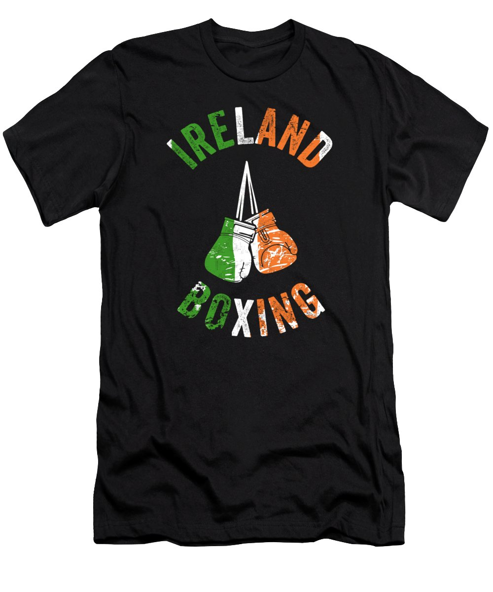 Boxer Men's T-Shirt (Athletic Fit) featuring the digital art Ireland Boxing Color Light Boxers Irish Cool Gift Funny Flag by J P