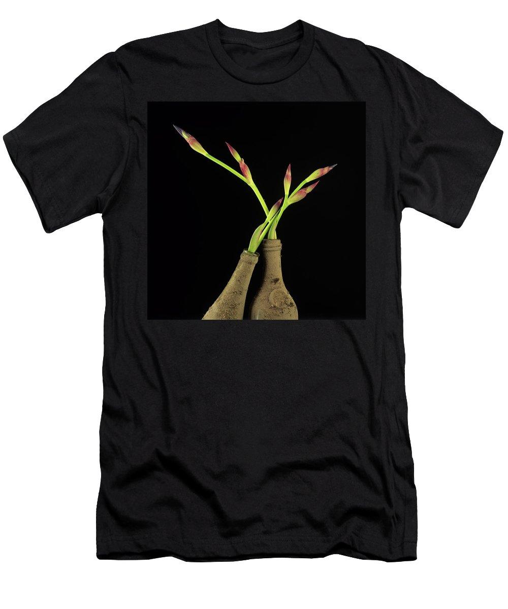 Aged Men's T-Shirt (Athletic Fit) featuring the photograph Iris by Bernard Jaubert