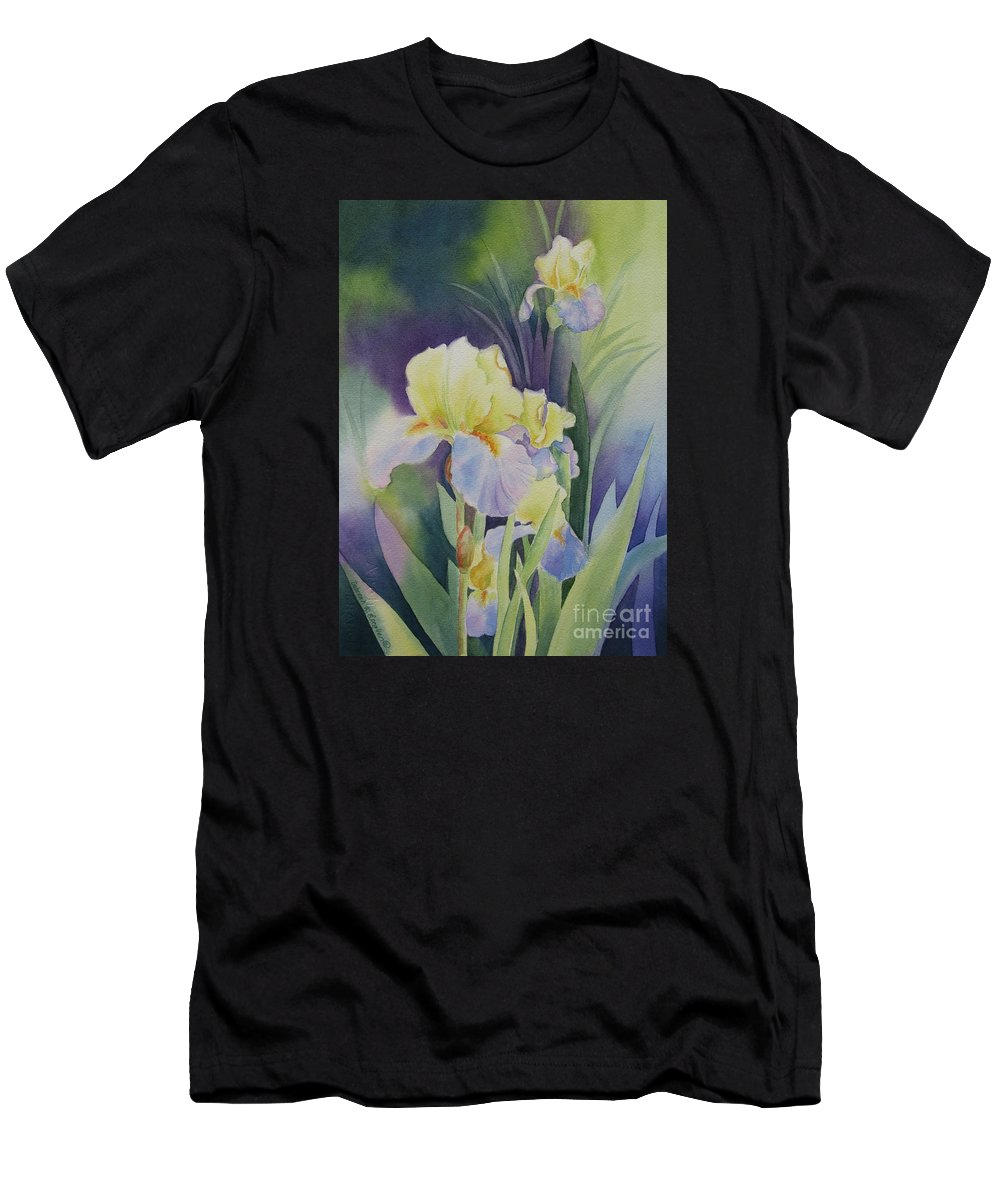 Iris Men's T-Shirt (Athletic Fit) featuring the painting Iris by Deborah Ronglien